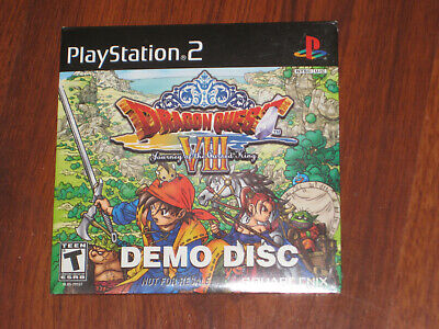 NEW Dragon Quest VIII 8 Promo Demo Disc (Sony PlayStation 2 PS2)   NEW & SEALED!