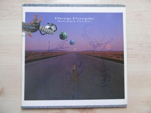 "Deep Purple ""Jon Lord"" Autogramme signed LP-Cover Vinyl ""Nobody`s Perfect"""