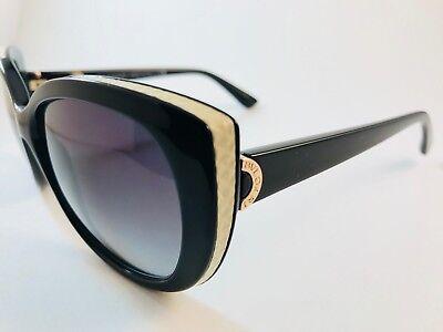 New Authentic Bvlgari sunglasses 8169 Q 901/8G black white w case