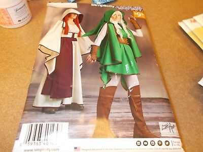 Simplicity COSPLAY Costume Pattern W0105/W0144 Ms Gaming/Zelda Outfits