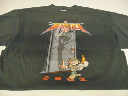 Rock T Shirt ~ Vintage Authentic The METALLICA CLUB ~ 2002 ~ Size XXL Gray ~ NEW