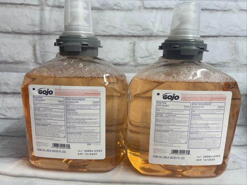 (2 PACK) GOJO TFX  5362 Premium Foam Antibacterial Handwash, 1200 mL