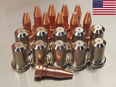 20pc 33366xl Electrodes 33418 80a Nozzles For Esab Pt-23 Pt-27 Plasma Cutter