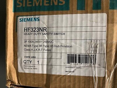 Siemens Hf323nr Safety Switch New In Box Free Shipping