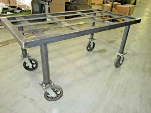 Industrial Steel Shop Cart Custom Made (4-Wheel Caster)