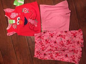 Elmo valentine pjs -tags attached