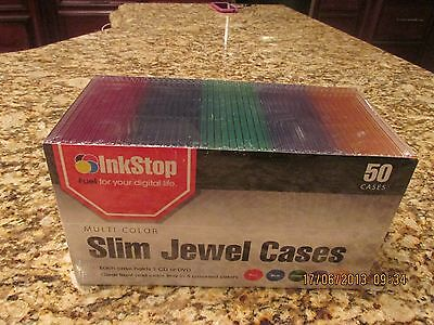 Nip Cddvd Color Slim 25 Jewel Cases