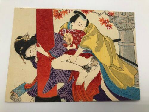 Japanese woodblock print Ukiyo-e / Japan Rare Vintage picture Art kabuki AA10
