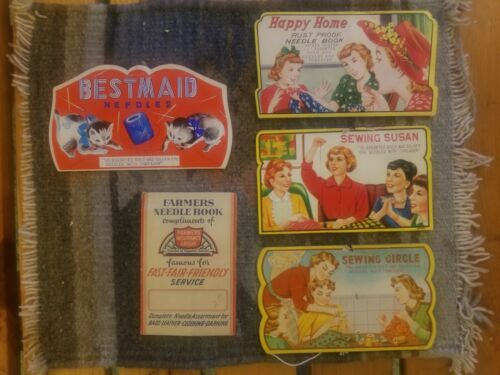 vintage sewing needle packets