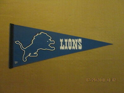 NFL Detroit Lions Vintage Circa 2000's Blue Background Logo Football Pennant - Detroit Lions Background
