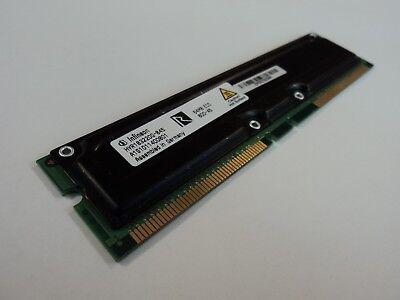 Infineon RAM Memory Module 64MB PC800-45 RDRAM RIMM ECC 184-Pin HYR183220G-845