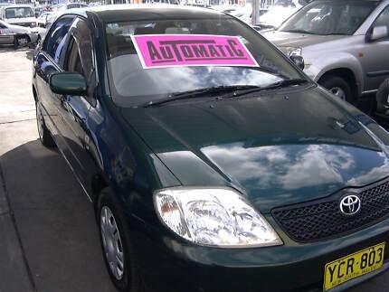2002 Toyota Corolla Sedan automatic full serviced and inspected . Granville Parramatta Area Preview