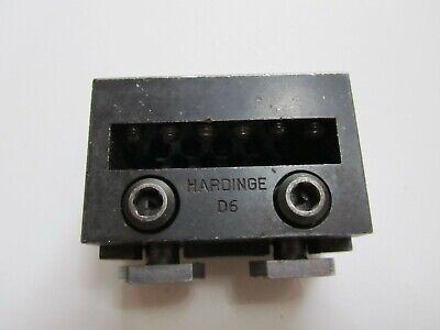 Hardinge D6 Multi Gang Tool Holder For Dv59 Dsm59 Lathe Model E Cross Slide