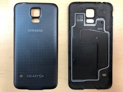 Battery Back Door Take into account For Samsung Galaxy S5 G900T G900P G900V Black w/ Gasket