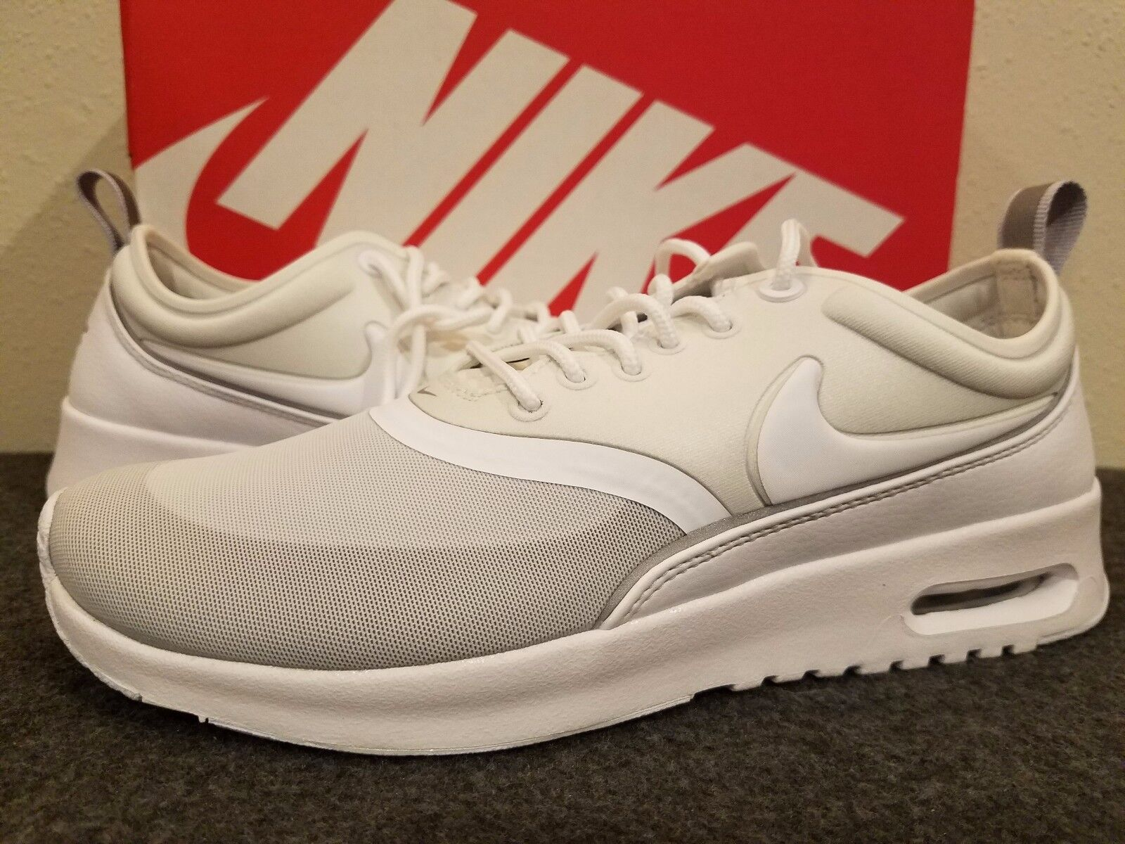 Women's Nike Air Max Thea Ultra Running Shoes WhiteMet Slv 844926 100 Size 7