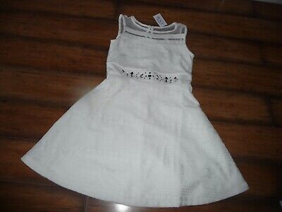 NEW NWT THE CHILDRENS PLACE GIRLS JEWELED WHITE LACE DRESS SIZE 8