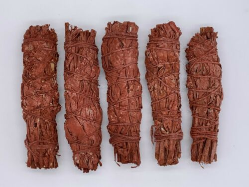 5X Dragons Blood Sage Smudge Sticks / Wands - Protection, Negativity Removal