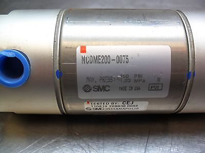 Smc Ncdme200-0075 Round Body Cylinder 2 Bore 1 Stroke New