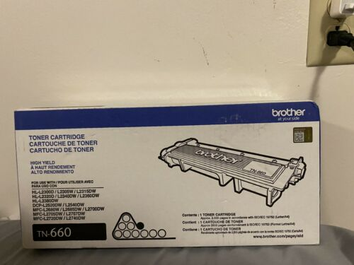 NEW Genuine OEM Brother TN-660 Black High-Yield Toner NEW SEALED BOX TN660 - $30.00
