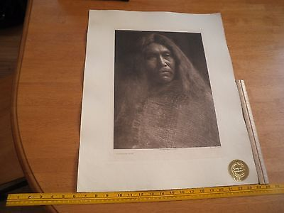 Edward S Curtis Photogravure 18x22.5 Tweedweave A Clayoquot Type Plate 378