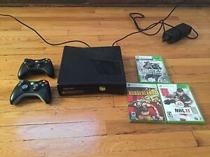 XBox 360 S  - 2 controllers with games - $125