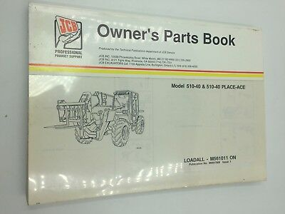 Jcb 510-40 510-40 Place-ace Loadall Parts Book Manual M561011 - On 98007808