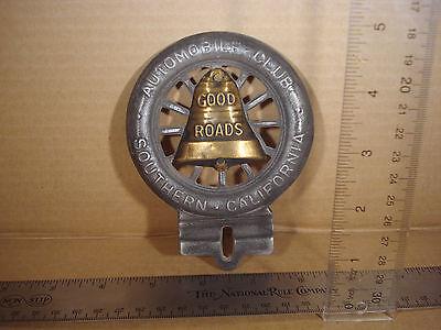 AAA Automobile Club Southern Kalifornien Glocke Nummernschild Wand Auto Motorrad