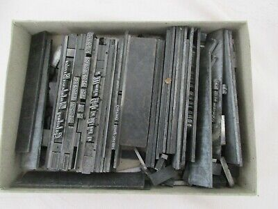Vintage Printing Printers Lead Type - Estate