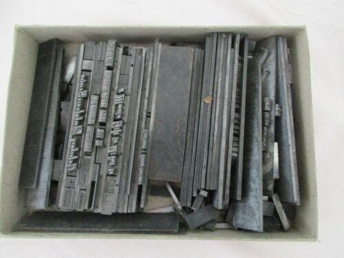 Vintage Printing  Printers Lead Type - Estate