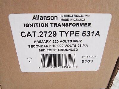 Allanson Ignition Transformer 2729-631a Abcsunray New In Box Oil Furnace