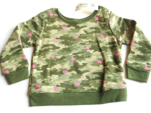 Sweatshirt Baby Toddler Kids Girls Outerwear Camo Garanimals 6- 9 12 18 Months