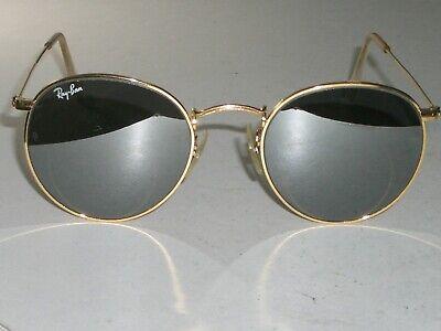 50 21mm Vintage B&L Ray Ban G31 UV Silber Spiegel Gep Rund Aviator Sonnenbrille
