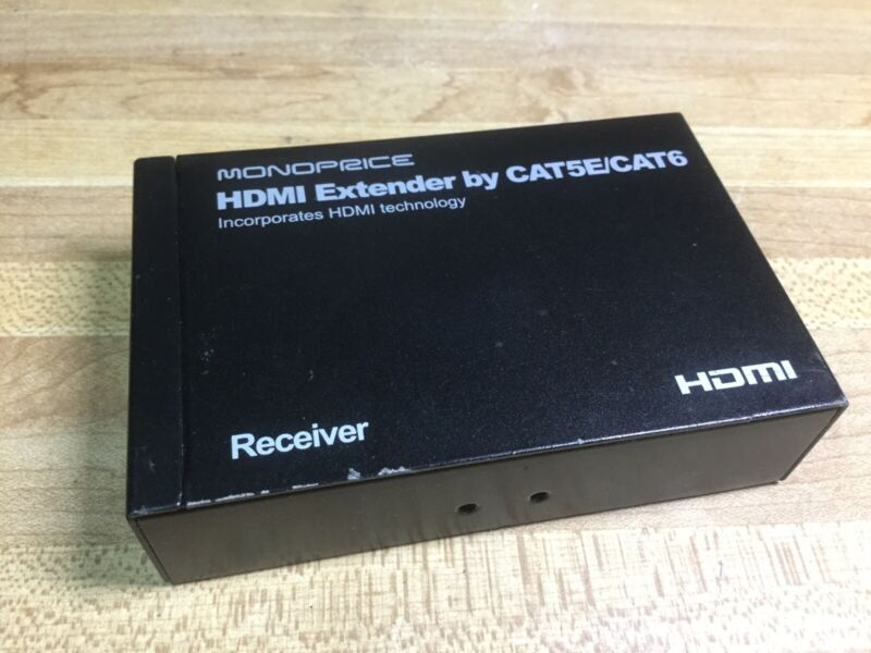 MONOPRICE HDMI EXTENDER RECEIVER BY CAT5E/CAT6 BOX TESTED
