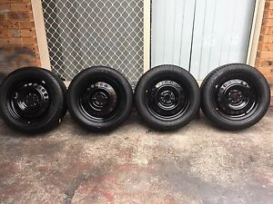 Toyota Corolla / Yaris wheels and tyres 15 inch set of 4 Revesby Heights Bankstown Area Preview