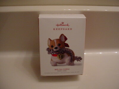 (Hallmark 2018 Puppy Love Welsh Corgi #28 In Series Ornament NEW Ships Fast!)