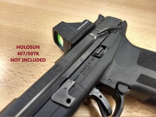HOLOSUN 407K 507K RED DOT SIGHT MOUNT PLATE FOR RUGER-57, RUGER 57, MADE IN USA