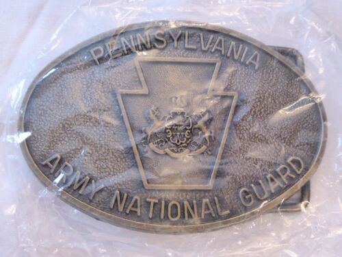 PENNSYLVANIA ARMY NATIONAL GUARD LTD ED OVAL BELT BUCKLE, NEW, UNOPENED!