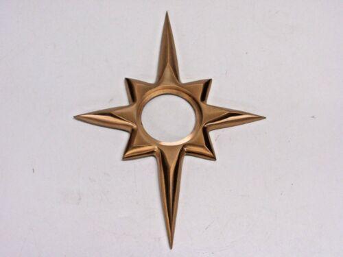 """NOS! TRIMCO 115 STARBURST DOOR ESCUTCHEON for KWIKSET, SATIN BRONZE, CAST 9-1/4"""""""