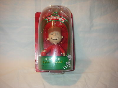 Characters In Charlie Brown (PEANUTS CHARACTER CHARLIE BROWN CHRISTMAS HOLIDAY CLIP-ON BOBBLEHEAD NEW IN)