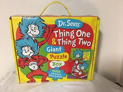 Dr Seuss Large Floor Puzzle Thing One Thing Two  20 1/2