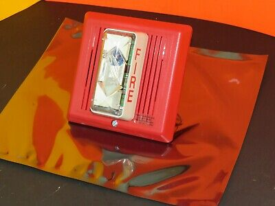 Est Edwards 757-3a-t Temporal Fire Alarm Horn Strobe Red