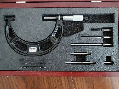 New Starrett 224 0-4 Micrometer With Case