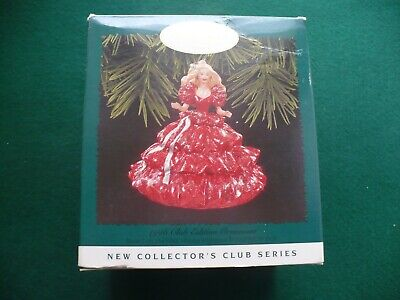 Hallmark Barbie Christmas Ornament 1996 Holiday Barbie with 1988 dress