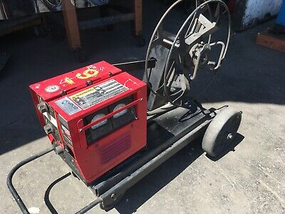 Lincoln Electric Welder Ln-8 Wire Feeder With Undercarriage And 60 Spool Used