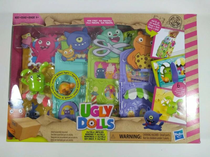 Ugly Dolls Uglyville Unfolded Main Street Playset! Carry & Go! Kids Love It!