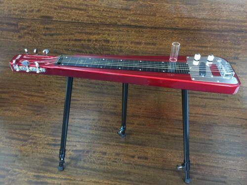 Haze LT-1930 Metallic Red LAP Steel Electric Guitar w/3 Height Adjustable Feet