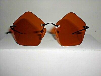 Retro-Sonnenbrille, 3 Farben, orange, lila, aubergine, schwarze dünne Bügel