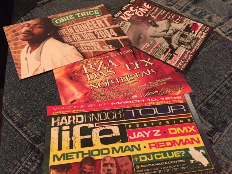 ORIGINAL KRS1, DAS-EFX JAY Z, METHOD MAN, RZA HIP HOP FLYER CARDS 1997-2003