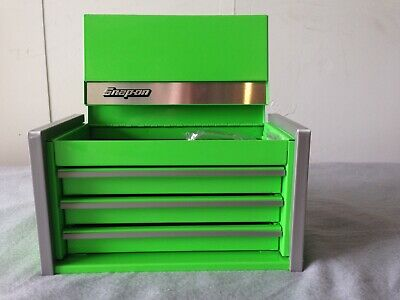 Box Snap - Snap On Extreme Green Mini Micro Top Chest Tool Box Rare Brand New