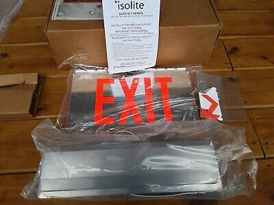 New Isolite Elite Elt Series Exit Sign